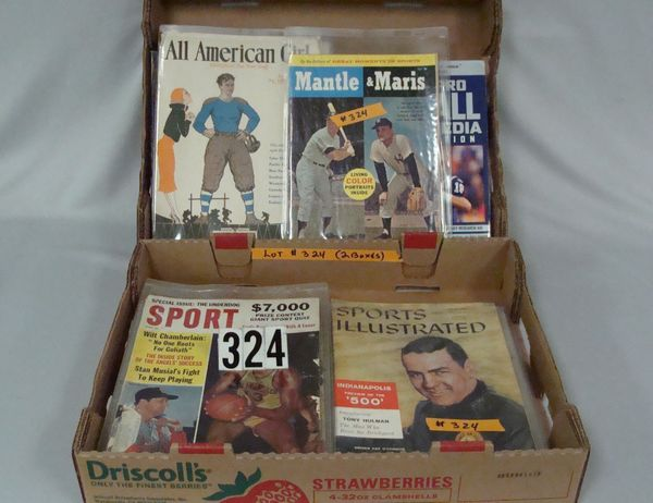 (2) BOXES OF ASSTD. VINTAGE SPORTS MAGAZINES