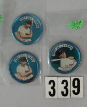 (3) 1964 TOPPS ALL-STARS BB COINS