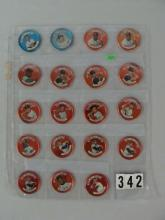 (19) 1964 TOPPS ALL-STARS BB COINS