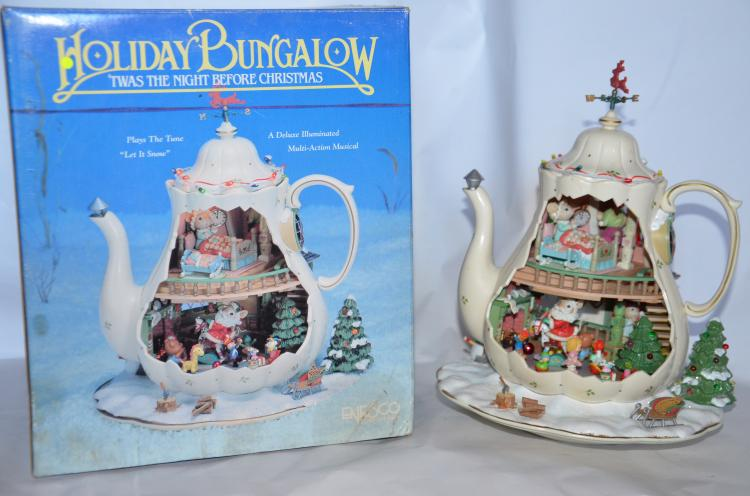 Enesco musicbox quot holiday bungalow twas the night before c