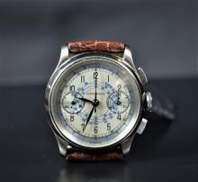Steel chronograph LONGINES, cal. 132 ZN. Restored dial. From the forties.