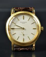 Automatic wristwatch PATEK PHILIPPE. The case is made of 18ct gold. Small second hand at 6...