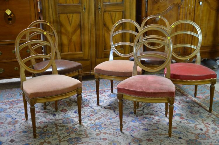 6 chaises louis xvi en noyer for Chaises louis xvi occasion