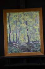 Oil on canvas Under the trees, signed R. Vuillemier, dated (19)24, 64 x 52cm.
