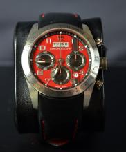 Automatic Chronograph TUDOR. With calendar. Ø 42mm. With replacement wristband. With box and...