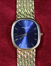 Automatic wristwatch PATEK PHILIPPE, completely made of 18ct gold (106 g), réf. 37922. With box...