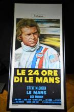 Movie poster le 24 heures de Le Mans with Steve McQueen.