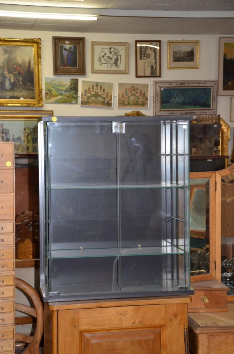 Vitrine en verre 2 tablards h 72cm l 60cm p 25cm for Vitrine verre but