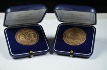 2 médailles commémorative PATEK PHILIPPE 1839 - 1989, Ø 40mm.