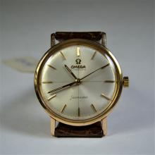 OMEGA wristwatch. Automatic, 18 ct rose gold. Diameter 35 mm. Bracelet and clasp Omega. 60th