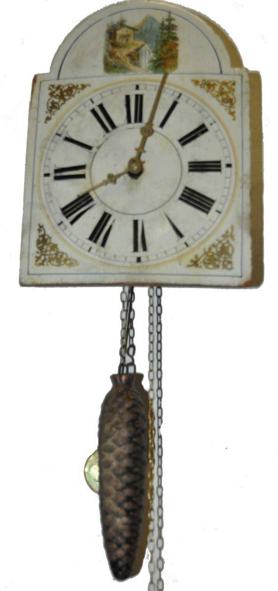 Horloge mural ancien hauteur du cadran 22cm - Vaisselier mural ancien ...