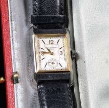 Steel and gold wristwatch PATEK PHILIPPE Nr. 825229. case Nr. 614597 with silver plated clock face....