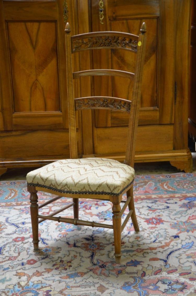 chaise acajou 3 barreaux plac en gobelin ForChaise A Barreaux