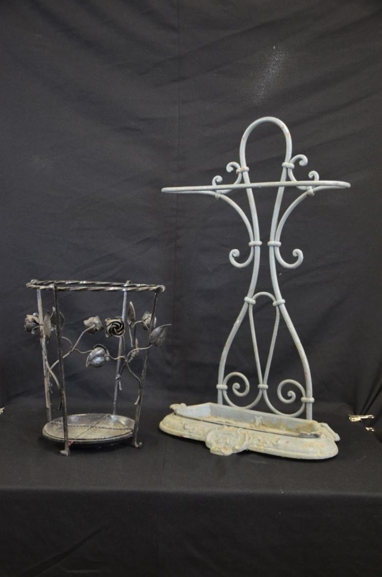 2 porte parapluie en fonte et en fer forg 36 et 75cm for Porte salon fer forge
