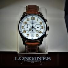 Automatic Chronograph LONGINES steel case. Model Spirit. With calendar, box and papers. New old...