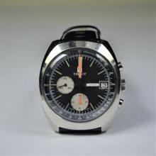 TISSOT Chronometer. Navigator. Steel, waterproof. Black dial. Diameter 40 mm. 12 hours counter. 60...