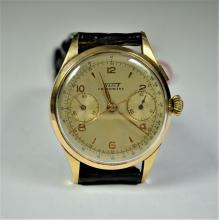 Chronograph and Chronometer TISSOT Rose gold 18ct. Diameter 37 mm. Kaliber 301 (Tissot) Tachymeter...