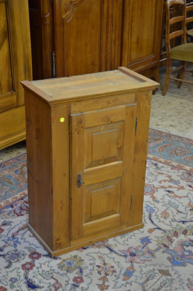 K nterli petit meuble 1 porte suspendre sapin h 78cm for Petit meuble porte