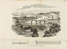 Brunel (Marc Isambard & Isambard Kingdom).- - Description of the Wrought-Iron Tubular Suspension Bridge on the South Wales Railway,