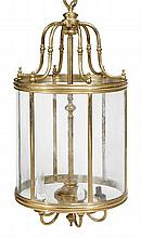 *A gilt brass lantern in George III style , of large proportions