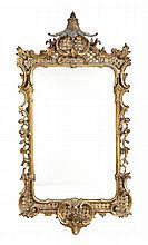A George III giltwood wall mirror, circa 1770