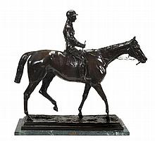 After Isidore Jules Bonheur , Kincsem with Charles Madden up, Patinated bronze