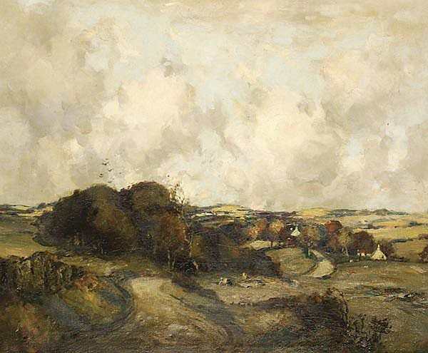 James Taylor Brown (fl.1891-c1938). Landscape, Oil