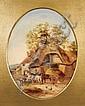Georgina Lara (fl. 1840-1880). Farmyard scene with