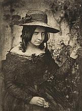 David Octavius Hill (1802-1870) and Robert Adamson - Girl in Straw Hat, 1912