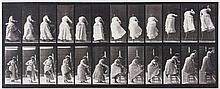 Eadweard Muybridge (1830-1904) - Stepping on Chair and Reaching Up, Plate 457, 1887