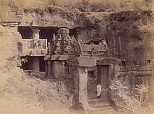 Lala Deen Dayal (1844-1910) - Visit of H.I.H. The Cesarewitch to Ellora Cave, H.H. The Nizam's Dominions, December 1890