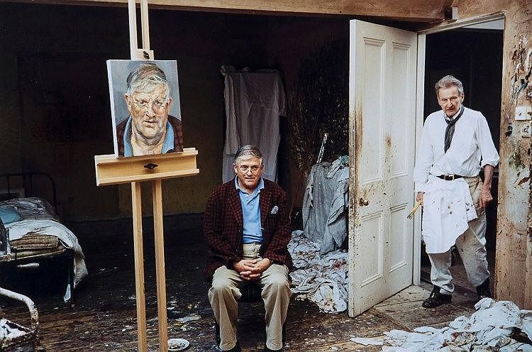 David Dawson (b.1960) - Lucian Freud and David Hockney, 2003