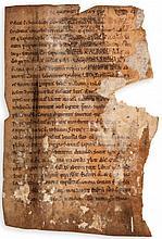 Manuscripts.- - substantial fragments of 4 ff.,