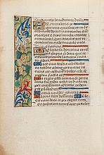 illuminated manuscript in Latin, on vellum, 3ff