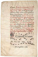 Choirbooks, - 3f bifolia and a single f.,
