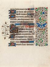 3ff., illuminated manuscript in Latin, on vellum, 15 lines