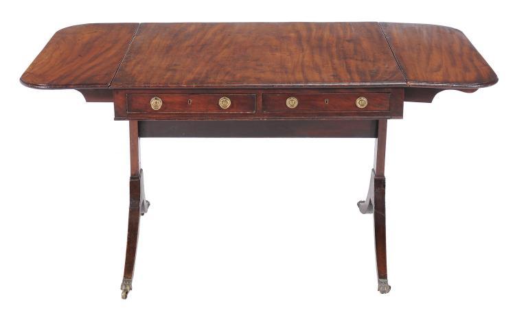 A George Iii Mahogany Sofa Table Circa 1800 71cm High 79
