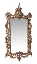 A gilt wall mirror after the manner of Thomas Chippendale , late 19th century