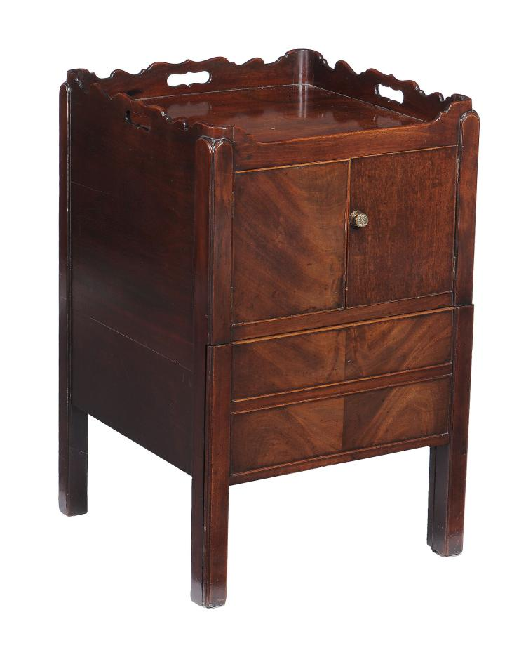 A george iii mahogany night commode late 18th century 77c for Kitchen cabinets 50cm wide