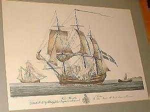 After Giacomo Tagliagambe. Five colour  reprints. European merchant   ships. 41.6x58.2cm. F&G.