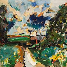 Phillip Sutton (b. 1928) - Road to Broom Copse, 1960
