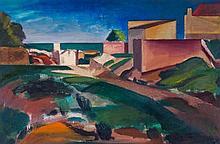 Bernard Meninsky (1891-1950) - Beach Scene