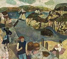 Gwyneth Johnstone (1915-2010) - Cornish Fishing Village