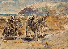 Dame Ethel Walker (1861-1951) - Donkeys on the Beach
