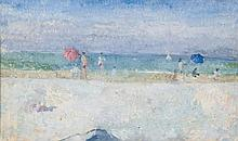 Peter Greenham (1909-1992) - Figures on the Beach