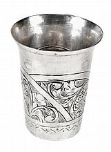 A 17th century English provincial silver beaker by
