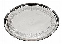 A George III silver oval salver, maker's mark of