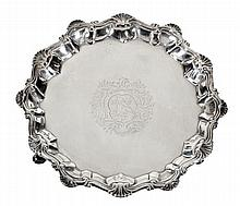 A George III silver waiter by Richard Rugg I,