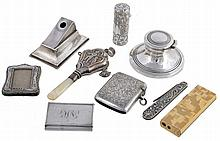 A collection of silver, to include: an Edwardian silver vesta case by...