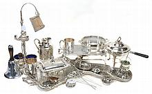 A collection of electro-plated wares, including
